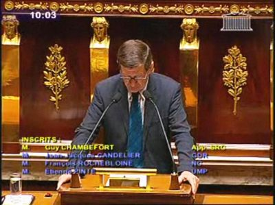 Guy chambefort 6 7 10 assemblée nationale élimination armes sous minitions