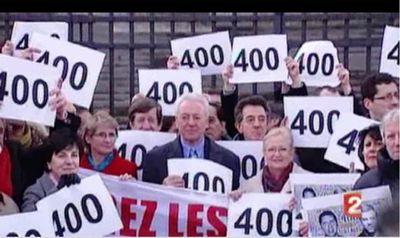 Quatre cents jours des  journalistes otages