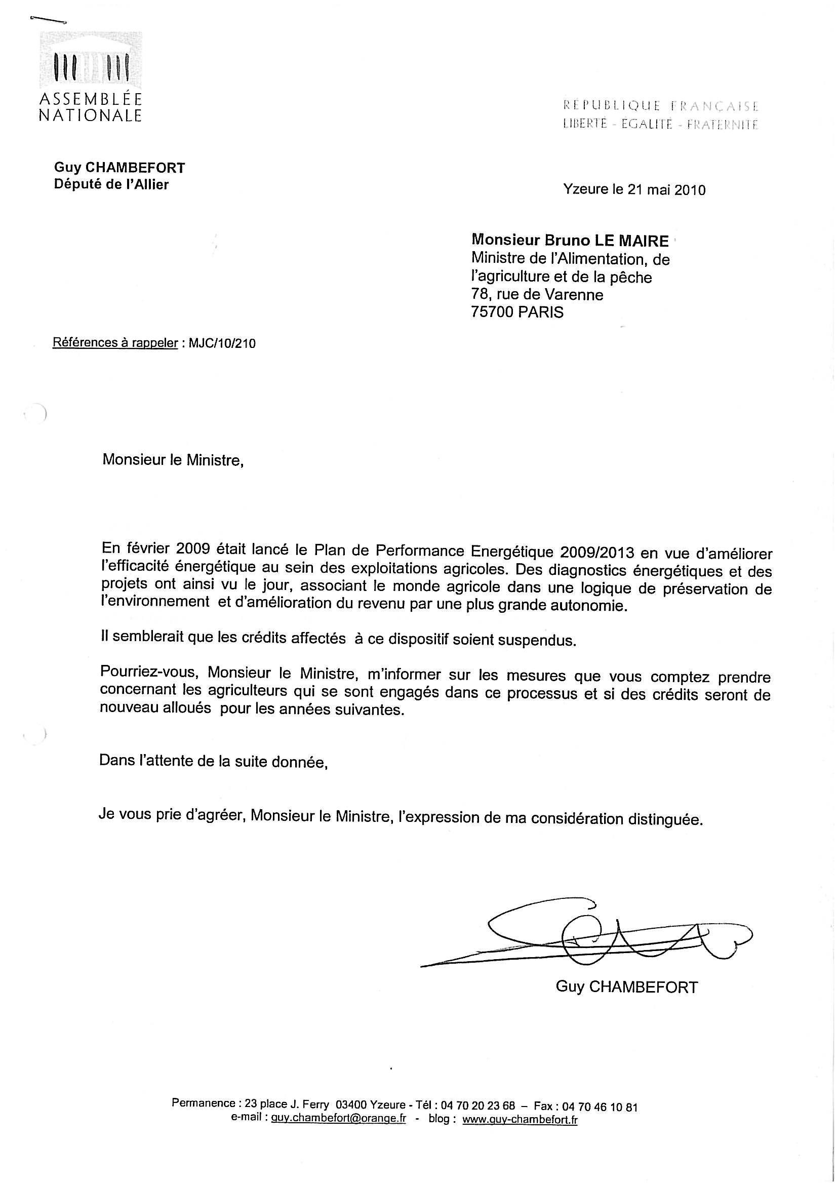 modele de lettre adressée à un ministre Les dossiers de l'agriculture: Ministre de l'alimentation, de l  modele de lettre adressée à un ministre